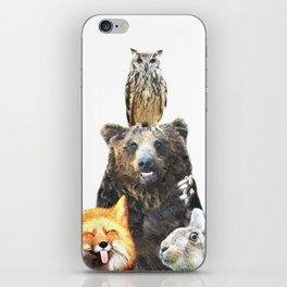 Woodland Animal Friends iPhone Skin