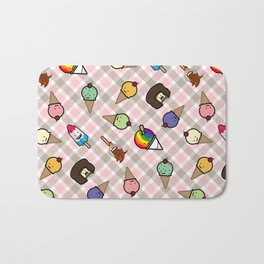 Neapolitan Gingham Frosty Treats Bath Mat