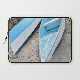 Two boats on the shore Laptop Sleeve