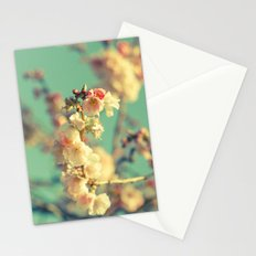 Pink blue blossom Stationery Cards