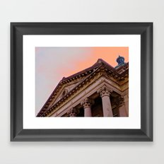 Courthouse Morning Framed Art Print