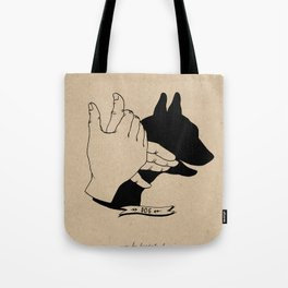 Hand-shadows Mr Dog Tote Bag