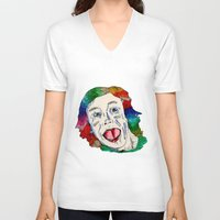 clown V-neck T-shirts featuring CLOWN by Masonjohnson