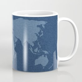 Denim Map Coffee Mug