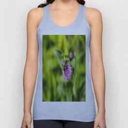 A Bee on a Purple Flower Unisex Tank Top