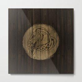 Horse Shield Metal Print