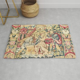 Susanna and the Elders 16th Century German Tapestry Print Rug