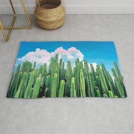 Cactus Summer #nature #digitalart Rug