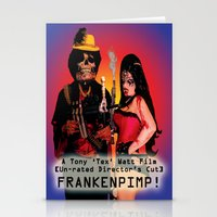 movie poster Stationery Cards featuring Frankenpimp (2009) - Movie Poster by Tex Watt