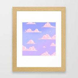 Pink Clouds Purple Sky Lo Fi Framed Art Print
