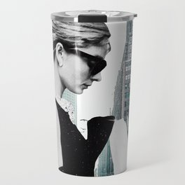 """Photo Montage """"Audrey in The City"""" Travel Mug"""