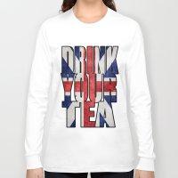 british flag Long Sleeve T-shirts featuring Tea / British by tshirtsz