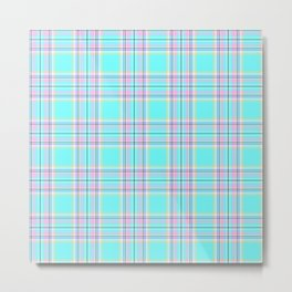 Royal Floridian Tartan Check Plaid Metal Print