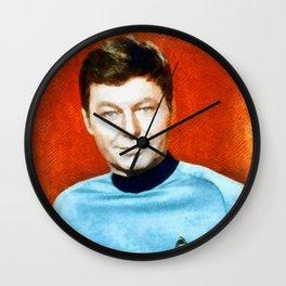 DeForest Kelley, Actor Wall Clock