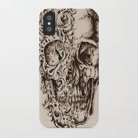 skeleton iPhone & iPod Cases featuring Skeleton by ViviRajski