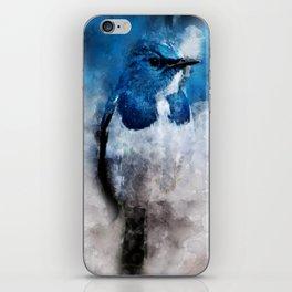 Watercolour Ultramarine Flycatcher Bird iPhone Skin