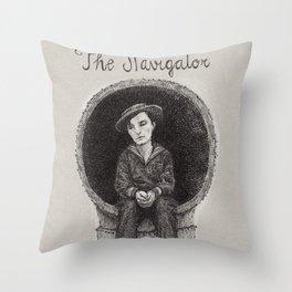 The Navigator Buster Keaton Throw Pillow