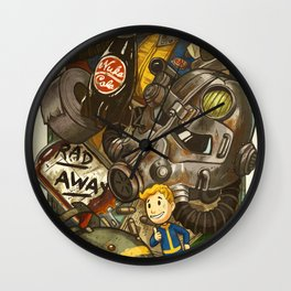 Wasteland Cache Wall Clock