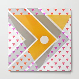 Fish - triangle graphic Metal Print