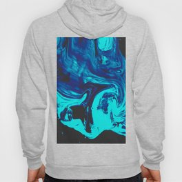 Ice Veins Abstract Paint Hoody