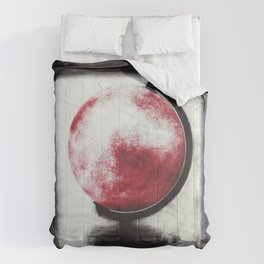 The world Globe - photopolymer/gravure Comforters