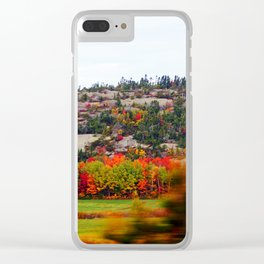 Trees and the Rock Clear iPhone Case