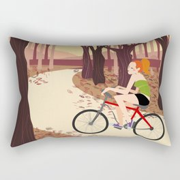 Bike Girl Rectangular Pillow