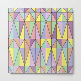 Pastel Triangles - Geometric Pattern Metal Print