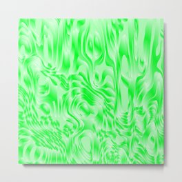 Pastel smudges stains of delicate colors with green. Metal Print