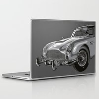 james bond Laptop & iPad Skins featuring THE Bond Car. by andyclo