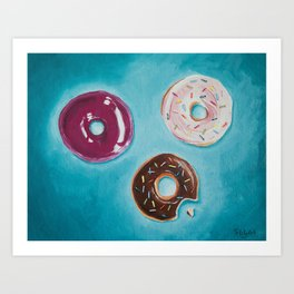 Variety of Donuts / Oil Painting Art Print