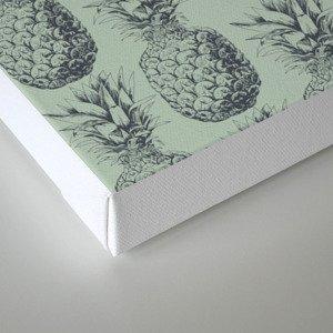 Pineapple, tropical fruit pattern design Canvas Print