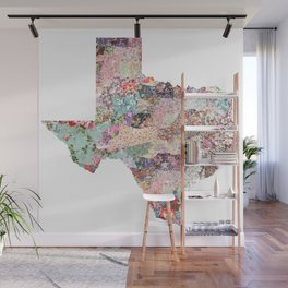Texas map Wall Mural