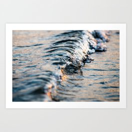 mini wave sunset Art Print