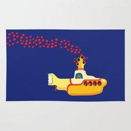 Yellow Submarine Bubbling Love Rug