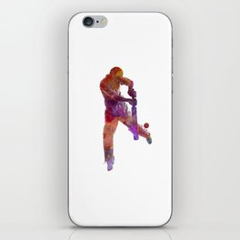 Cricket player batsman silhoutte iPhone Skin