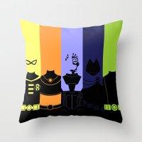 teen titans Throw Pillows featuring Vector Titans by Hybryda