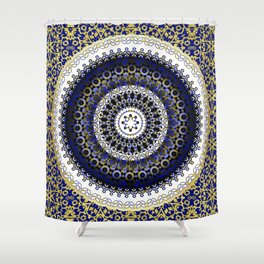 Royal Baroque Mandala Shower Curtain