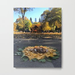 Central Park Sunflower Metal Print