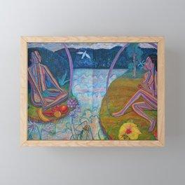 Adam and Eve Framed Mini Art Print