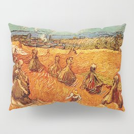 Van Gogh, millstones  – Van Gogh,Vincent Van Gogh,impressionist,post-impressionism,brushwork,paintin Pillow Sham