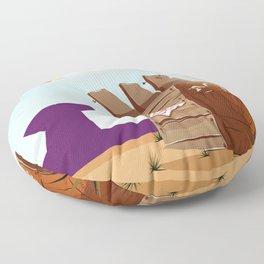 acme rocket crate Floor Pillow