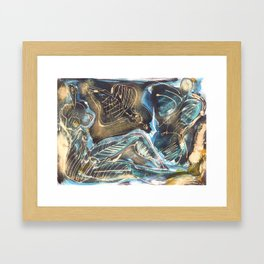 the couple and the intruder ghost Framed Art Print