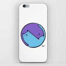 yin yang cat  iPhone & iPod Skin