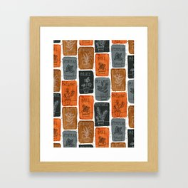 Cooking Herbs Framed Art Print