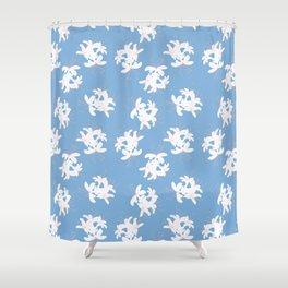 Honeysuckle Bouquet in Carolina Blue Shower Curtain