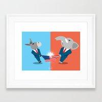 politics Framed Art Prints featuring Politics! by Evan Gaskin