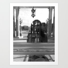 reflection of villa hügel, essen, germany Art Print