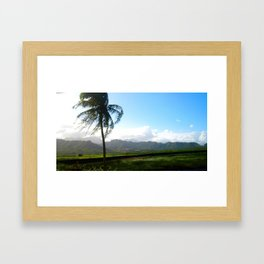 north shore country  Framed Art Print
