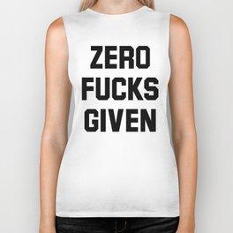 Zero Fucks Given Biker Tank
